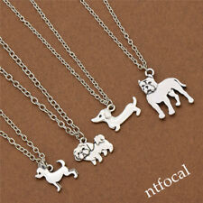 Chihuahua Pet Dog Cute Necklace Silver Pendant Jewelry Gift  Statement Vintage