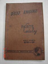 CAT Caterpillar D337 Engine Parts Manual Catalog