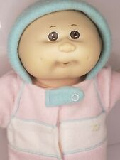 Vintage Cabbage Patch Kid Bald Baby with Brown Eyes in Baby Pouch 1970 - 1982