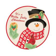 Fitz and Floyd Holly Berry Snowman Cookie Plate