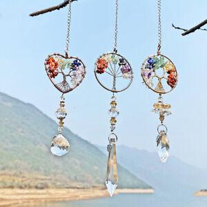 Crystal Beads Suncatcher Window Hanging Dream Catcher Tree Of Life Decor Gift
