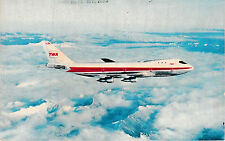 TWA TRANS WORLD AIRLINES - POSTCARD - BOEING 747