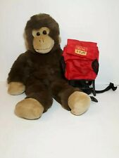 "Build A Bear ""Bab"" Plush Monkey with Backpack."