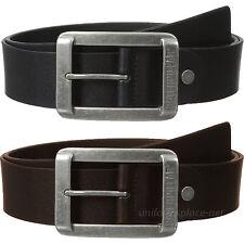 Caterpillar Leather Belt Mens 1 3/4 CAT Trapper Peak Belts Logo Nickel Buckle