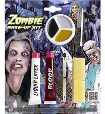 Zombie Make Up Kit (liquid Latex Blood Pencils Make-up Tray) WIDMANN