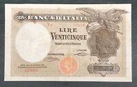 25 LIRE BANCA D'ITALIA AQUILA BANDIERA SABAUDA 22/01/1919 BB/BB+