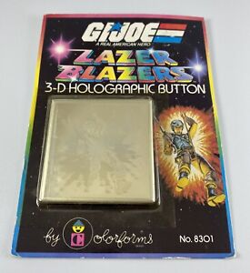 GI Joe Carded Pin Lazer Blazers 3-D Hologrphic Button 1983 Colorforms