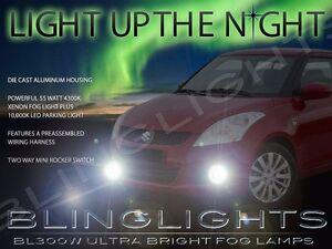 Xenon Halogen Fog Lamps Driving Light Kit for 2011-2019 Suzuki Swift Foglights