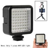 Mini W49 Camera LED Video Light Interlock Portable Adjustable Fr Smartphone DSLR