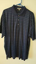 Peter Millar Xl checkered polo navy