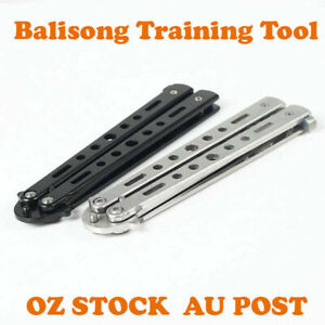 Practice Trainer Knife Dull Tool Balisong Blade Butterfly Train Folding Training