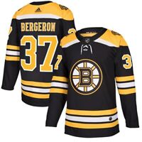 Patrice Bergeron #37 Boston Bruins Black & Yellow Hockey Jersey