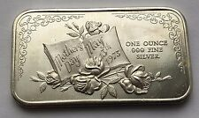 1973 MOTHER DAY SILVER .999 FINE ONE OUNCE BAR