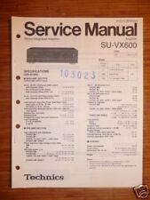 Service Manual technics su-vx600 amplifier, original