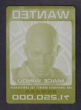STAR WARS CHROME PERSPECTIVES PRINTING PLATE No.3 MACE WINDU JEDI HUNT