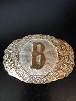 Crumrine Jewelers & Silversmiths El Arturo Bronze Initial B Belt Buckle Reno Nev
