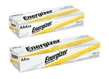 Energizer Industrial EN91 AA 24 pk, EN92 AAA 24 pk Batteries Bundle 12/2029 Exp.