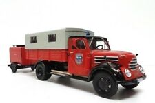 Robur Garant K30 + remolque bomberos 1/43 firefighters truck IXO Salvat Diecast