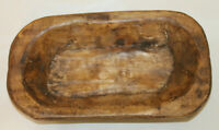 Antique Style Carved Wooden Dough Bowl Primitive Wood Tray Rustic Home Decor 10'