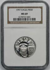 1997 Statue of Liberty Half-Ounce Platinum Eagle $50 MS 69 NGC