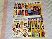 Community Seasons 1-4, 1 2 3 4, Dvd, NBC, New & Sealed with Slipcovers!