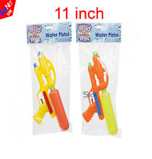 "2x 11"" Large Water Gun Pump Action Super Soaker For Outdoor Beach Garden Toy"