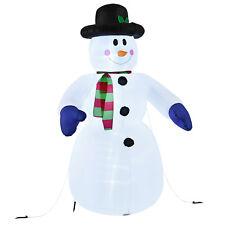 240cm aufblasbarer Schneemann DEKO Beleuchtung Weihnachtsdekoration Winter