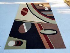 Mid century geometric area rug 5x8