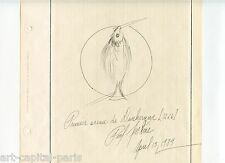 JENKINS PAUL DESSIN À L'ENCRE 1984 SIGNÉ HANDSIGNED INK DRAWING MUSÉE DUNKERQUE