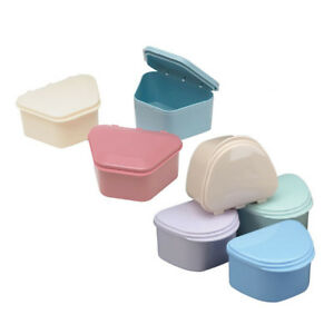 Dental Denture box case carrier assorted color Ship from Chicago