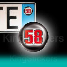 3 ADESIVI targa 58 Simoncelli SIC Moto GP stickers auto moto camper