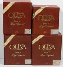 Oliva Serie V Liga Especial Double Belicoso Torpedo Wooden Cigar Box Lot of 4