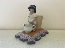 Antique Russian Soviet Porcelain Figurine Ashtray/Match Holder Gardner Verbilki