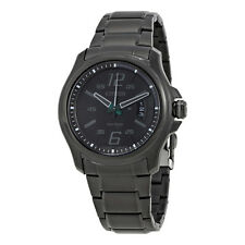 Citizen HTM Eco-Drive Black Dial Black Stainless Steel Quartz Mens Watch-AU