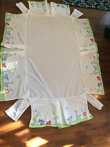 Pottery Barn Crib Skirt Jungle Animals Theme Excellent Condition