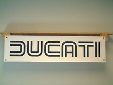 Ducati Motorcycle Banner Classic double line logo workshop 750SS MHR 1000 900