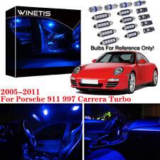 16x Blue LED Bulb Interior Light Kit For 2005-2011 Porsche 911 997 Carrera Turbo