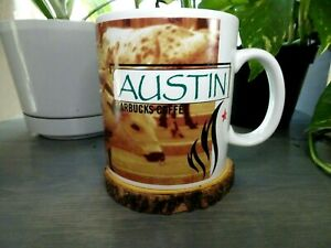 1999 Starbucks Austin Texas Coffee Mug Cappuccino Espresso Hot Cocoa Cup 16 Oz