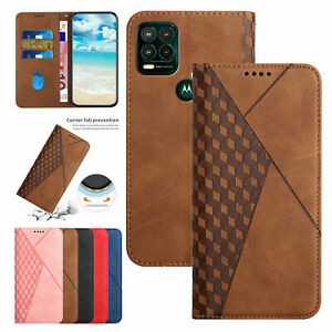 For Motorola Moto G Stylus 5G Magnetic Flip Leather Wallet Stand Case Cover