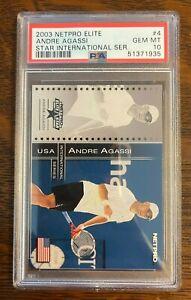 2003 Netpro Elite Star International Series /500 #4 Andre Agassi PSA 10 Gem Mint