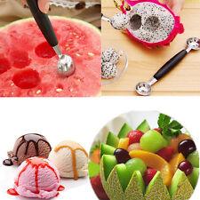 Double Tête Cuillère Boule Crème Glacée Glace Melon Maker Baller Fruit Acier Ino