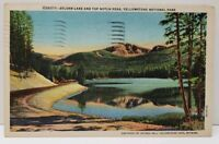 Sylvan Lake and Top Notch Peak Yellowstone National Park '55 Wyoming Postcard A8