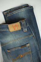 NUDIE JEANS THIN FINN ORG.SANG BLEU Men's W29/L34 Elastic Organic Jeans 0231*