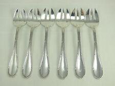 6 belles fourchettes à huitres, argent massif Minerve, Rubans, Ravinet d'Enfert.
