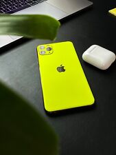 Vinyl Skin For iPhone 11 Pro Max 3M Matte Neon Yellow