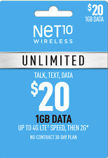 Preloaded🔥Net 10 Sim Card $20 Plan On At&T Network One Month Included Net10 Sim