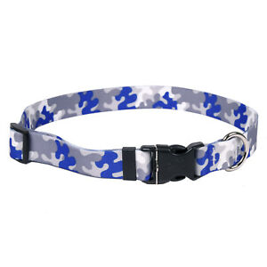 NEW Royal Blue & Silver Dog and Cat Collar in Team Spirit Camo by Yellow Dog