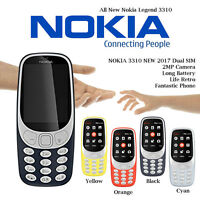 NEW NOKIA 3310 2017 DUAL SIM 2MP CAMERA RETRO FANTASTIC PHONE FREE POSTAGE UK SL