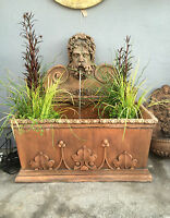 Terracotta English stone Wall fountain Gothic pool , Water feature ,