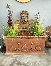 Terrakotta Goldlack Steinmauer brunnen Gothic pool , Wasser merkmal